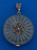 Timepieces:Other , Longines 14k Gold & Enamel 28 mm Pendant Watch. ...