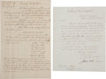 Autographs:Statesmen, Large Archive Pertaining to Dr. Ezra Bartlett of New Hampshire, ...