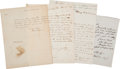 "Autographs:Statesmen, Large Archive of Thirty-Three Letters From Presidential Campaign""Also-Rans"", Circa 1826-1994...."