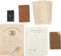 Autographs, Union Soldier of the 30th Wisconsin Diary Grouping, with Great Content ...