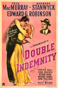 "Movie Posters:Film Noir, Double Indemnity (Paramount, 1944). Autographed One Sheet (27"" X41"").. ..."