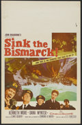 "Movie Posters:War, Sink the Bismarck! (20th Century Fox, 1960). Window Card (14"" X22""). War. Directed by Lewis Gilbert. Starring Kenneth More,..."
