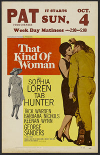 """That Kind of Woman (Paramount, 1959). Window Card (14"""" X 22""""). Romance. Directed by Sidney Lumet. Starring Sop..."""