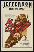 """Movie Posters:Documentary, Masters of the Congo Jungle (20th Century Fox, 1960). Window Card (14"""" X 22""""). Documentary. Directed by Heinz Sielmann and H..."""