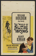 """Movie Posters:Romance, The World of Suzie Wong (Paramount, 1960). Window Card (14"""" X 22""""). Romantic Drama. Directed by Richard Quine. Starring Will..."""