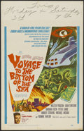 "Movie Posters:Adventure, Voyage to the Bottom of the Sea (20th Century Fox, 1961). WindowCard (14"" X 22""). Sci-Fi Adventure. Directed by Irwin Allen..."