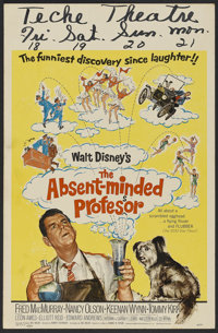 "The Absent Minded Professor (Buena Vista, 1961). Window Card (14"" X 22""). Family Comedy. Directed by Robert St..."