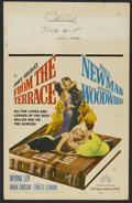 "Movie Posters:Drama, From the Terrace (20th Century Fox, 1960). Window Card (14"" X 22""). Drama. Directed by Mark Robson. Starring Paul Newman, Jo..."