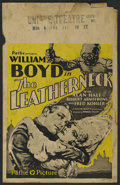 "Movie Posters:War, The Leatherneck (Pathe', 1929). Window Card (14"" X 22""). Action.Directed by Howard Higgin. Starring William Boyd, Alan Hale..."