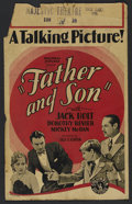 """Movie Posters:Drama, Father and Son (Columbia, 1929). Window Card (14"""" X 22""""). Drama. Directed by Erle C. Kenton. Starring Jack Holt, Dorothy Rev..."""