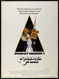 "A Clockwork Orange (Warner Brothers, 1971). Poster (30"" X 40"") X-Rated Version. Sci-Fi Crime Drama. Directed b..."