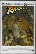 "Movie Posters:Adventure, Raiders of the Lost Ark (Paramount, R-1982) One Sheet (27"" X 41"").Adventure. Directed by Steven Spielberg. Starring Harriso..."