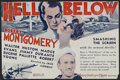 """Movie Posters:War, Hell Below (MGM, 1933). Herald (4.25"""" X 5.5""""). War Romance.Directed by Jack Conway. Starring Robert Montgomery, Walter Hust..."""