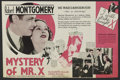 """Movie Posters:Mystery, Mystery of Mr. X (MGM, 1934). Herald (5.5"""" X 6.75""""). Mystery.Directed by Edgar Selwyn. Starring Robert Montgomery, Elizabet..."""