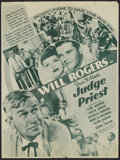 """Movie Posters:Comedy, Judge Priest (Fox, 1934). Herald (4.5"""" X 12""""). Comedy. Directed byJohn Ford. Starring Will Rogers, Tom Brown, Anita Louise,..."""