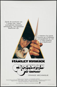 "A Clockwork Orange (Warner Brothers, 1971). Belgian (14"" X 21.5""). Science Fiction"