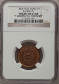 Civil War Merchants, 1863 Token T. Brimelow, Druggist, New York, NY MS64 Red and BrownNGC. Fuld-630K-1a. Incorrectly attributed by NGC as Fuld-...