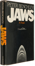 Books:Horror & Supernatural, Peter Benchley. Jaws. Garden City: Doubleday & Company,1974. First edition. Octavo. Publisher's cloth and dust jack...