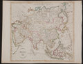 Books:Prints & Leaves, Engraved Map of Asia With Hand-Colored Borders, Ca. 1791. With oldfold creases and trivial toning along the edges, else ver...
