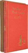 Books:Children's Books, A. A. Milne. The House at Pooh Corner. New York: E. P.Dutton & Co, [1928].. First edition. Signed by Miln...