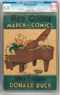 March of Comics #41 Donald Duck (K. K. Publications, Inc., 1949) CGC VG/FN 5.0 Off-white pages