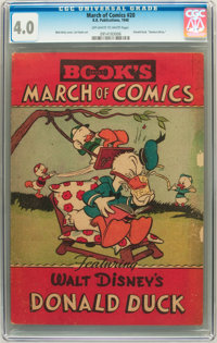 March of Comics #20 Donald Duck (K. K. Publications, Inc., 1948) CGC VG 4.0 Off-white to white pages