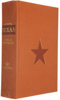 Books:Americana & American History, James A. Michener. SIGNED. Texas. New York: Random House,[1985]. First edition. One of 1,000 signed copies. Pub...