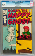 Bronze Age (1970-1979):Humor, Homer, the Happy Ghost #3 Savannah pedigree (Marvel, 1970) CGC NM9.4 Cream to off-white pages....
