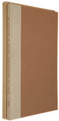 Books:Americana & American History, An Analysis of C. W. Raines' Bibliography of Texas. Waco:Price Daniel Jr., 1962. First edition. one of 100 numbered...