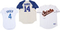 Baseball Collectibles:Uniforms, Ernie Banks, Eddie Murray and Duke Snider Signed Jerseys Lot of 3....