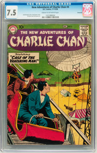 The New Adventures of Charlie Chan #4 Savannah pedigree (DC, 1958) CGC VF- 7.5 Cream to off-white pages