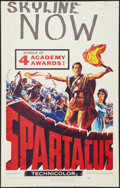 "Movie Posters:Adventure, Spartacus (Universal International, 1960). Window Card (14"" X 22"").Adventure.. ..."