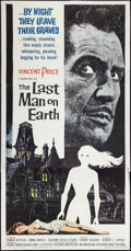 "Movie Posters:Science Fiction, The Last Man on Earth (American International, 1964). Three Sheet(41"" X 81""). Science Fiction.. ..."