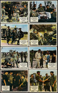 """Movie Posters:War, The Green Berets (Warner Brothers, 1968). British Front of HouseLobby Card Set of 8 (8"""" X 10""""). War.. ... (Total: 8 Items)"""