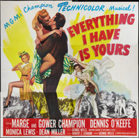 """Everything I Have Is Yours (MGM, 1952). Six Sheet (81"""" X 81""""). Musical"""