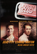 "Movie Posters:Action, Fight Club (20th Century Fox, 1999). One Sheet (27"" X 40""). DSStyle A. Action.. ..."