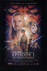 "Star Wars: Episode I - The Phantom Menace (20th Century Fox, 1999). One Sheet (26.75"" X 39.75""). DS Style B. S..."