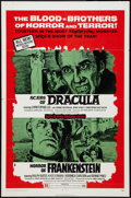 """Movie Posters:Horror, Scars of Dracula/Horror of Frankenstein Combo (American Continental Films Inc., 1971). One Sheet (27"""" X 41""""). Horror.. ..."""