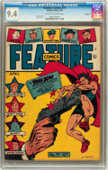 Golden Age (1938-1955):Superhero, Feature Comics #77 Rockford pedigree (Quality, 1944) CGC NM 9.4 Cream to off-white pages....
