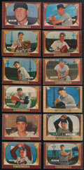 Baseball Cards:Sets, 1955 Bowman Baseball Partial Near Set With Mantle And High Numbers (263/320). ...