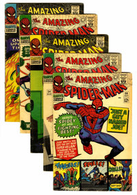 The Amazing Spider-Man #34-38 Group (Marvel, 1966) Condition: Average VG except as noted.... (Total: 5 Comic Books)