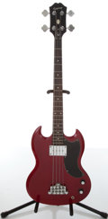 Musical Instruments:Bass Guitars, Circa 2009 Epiphone Red SG Electric Bass Guitar, #SJ05076396....