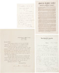 Autographs:Celebrities, Woman's Suffrage Archive of Important Autograph Letters From Henryand Lucy Stone Blackwell....