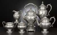 A SIX-PIECE AMERICAN SILVER TEA AND COFFEE SERVICE Gorham Manufacturing Co., Providence, Rhode Island, circa 1936