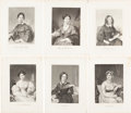 Antiques:Posters & Prints, Six Steel Engraved Portraits of 19th Century American and BritishWomen Writers From A Portrait Gallery of Eminent Men a...