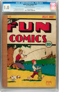 More Fun Comics #22 (DC, 1937) CGC FR 1.0 Cream to off-white pages
