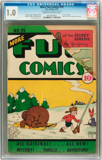 More Fun Comics #19 (DC, 1937) CGC FR 1.0 Cream to off-white pages