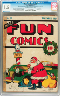 More Fun Comics #27 (DC, 1937) CGC FR/GD 1.5 Cream to off-white pages