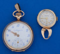 Timepieces:Other , Two 14k Gold Ladies Pendant Watches Runners. ... (Total: 2 Items)