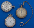 Timepieces:Pocket (post 1900), A Lot Of Three 12 Size Pocket Watches Runners. ... (Total: 3 Items)